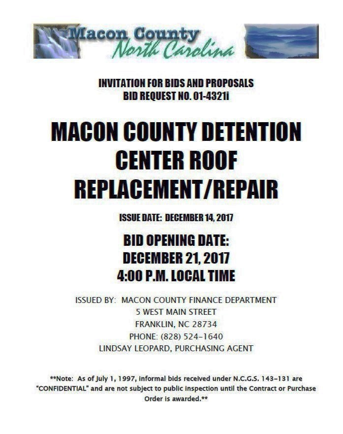 macon county nc finance Dept.