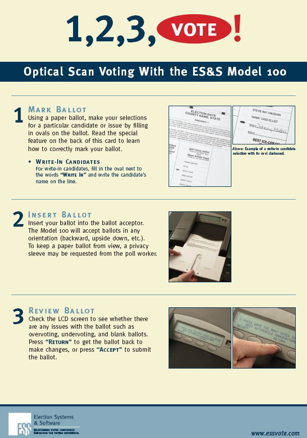 macon county nc es&s voting machine m100 instructions